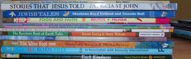 WIHW2015 A stack of books for a Muslim family