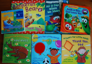 Christian board books and early books
