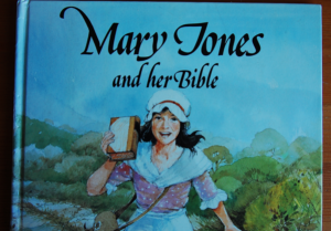 Mary Jones and her Bible cover