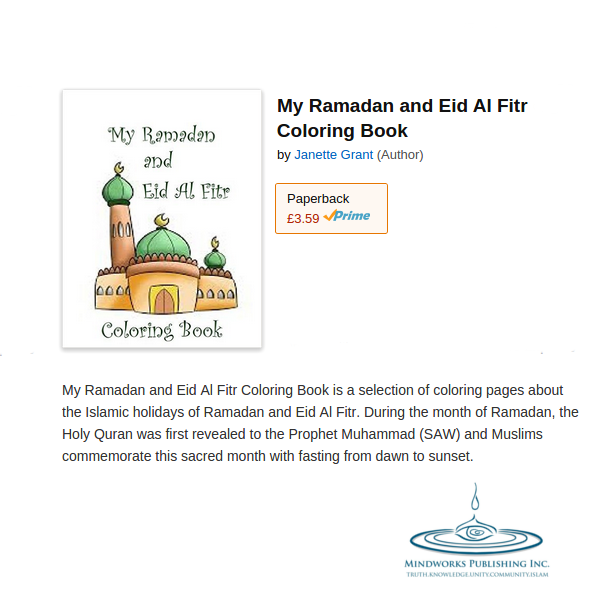 Mindworks Publishing My Ramadan and Eid Al Fitr Coloring Book