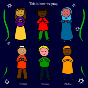 Illustration from my Abrahamic interfaith book 'Religious Rhyme Time'